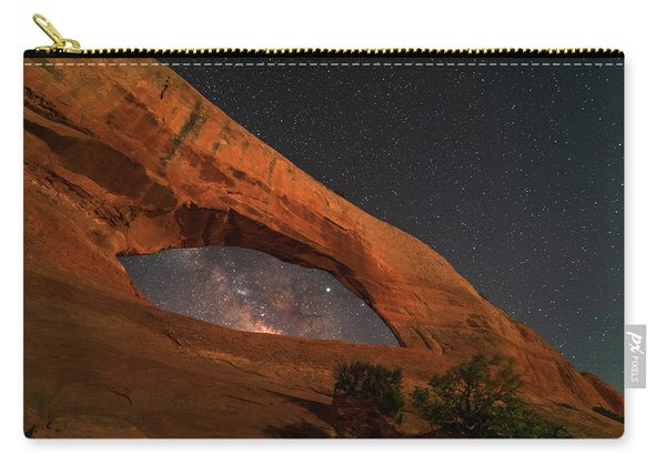 Milky Way Framed By Wilson Arch Carry-all Pouch