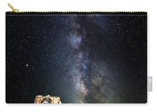 Milky Way Over Mojave Desert Graffiti 1 Carry-all Pouch