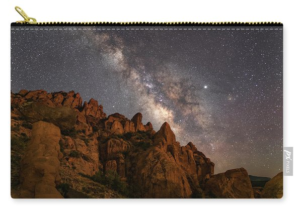 Milky Way Over Rocky Terrain Carry-all Pouch