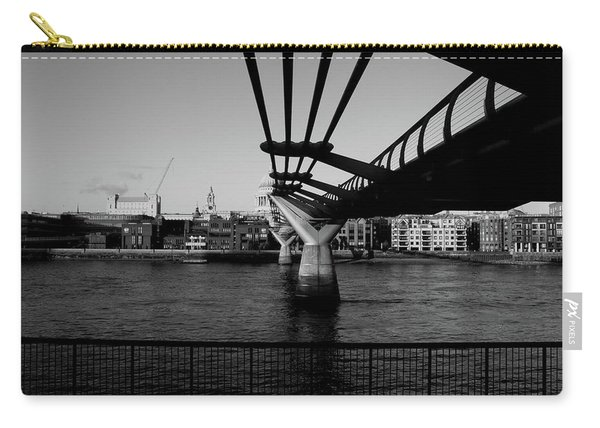Carry-all Pouch featuring the photograph Millennium Bridge  by Edward Lee