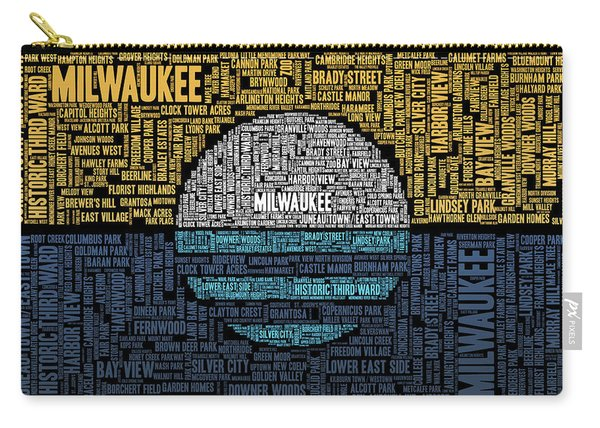Milwaukee Neighborhood Word Cloud Carry-all Pouch