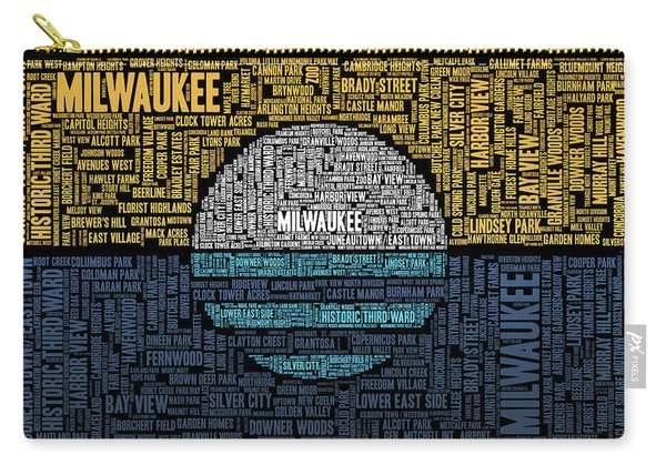 Milwaukee Neighborhood Word Cloud Carry-all Pouch