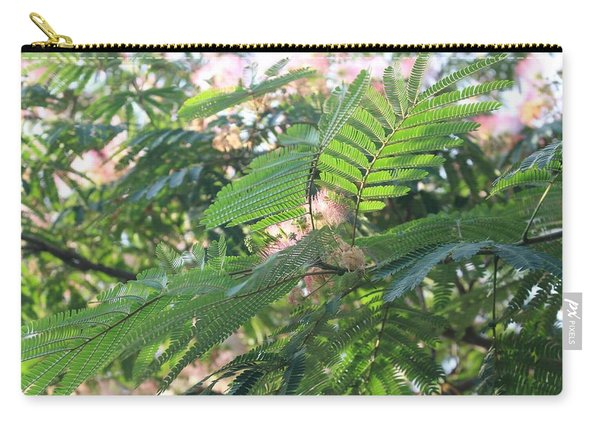 Mimosa Tree Blooms And Fronds Carry-all Pouch