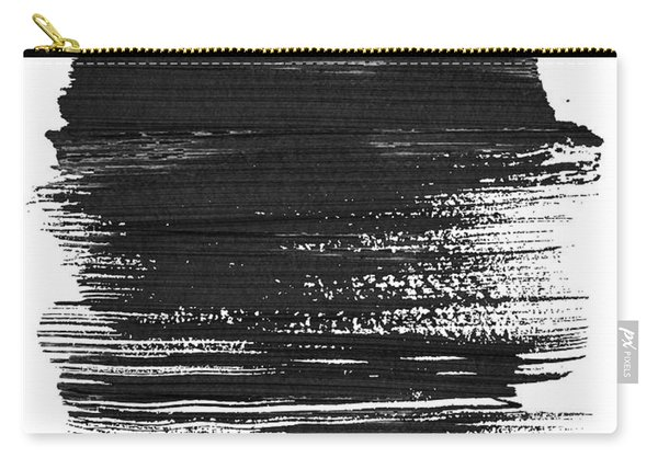 Minneapolis Skyline Brush Stroke Black Carry-all Pouch