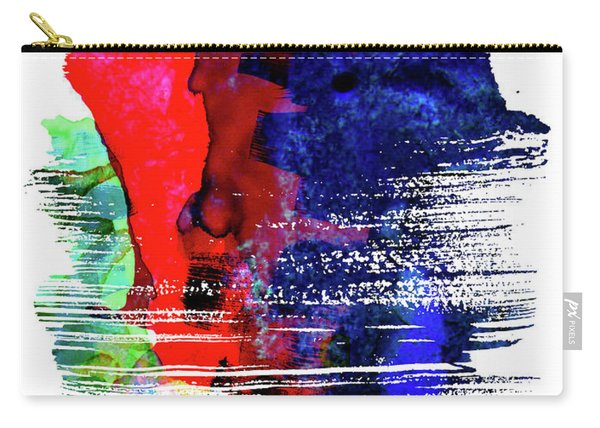 Minneapolis Skyline Brush Stroke Watercolor   Carry-all Pouch