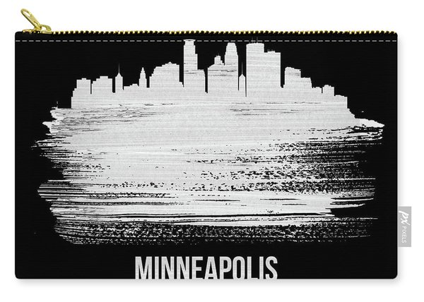 Minneapolis Skyline Brush Stroke White Carry-all Pouch