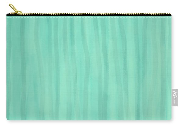 Mint Green Lines Carry-all Pouch