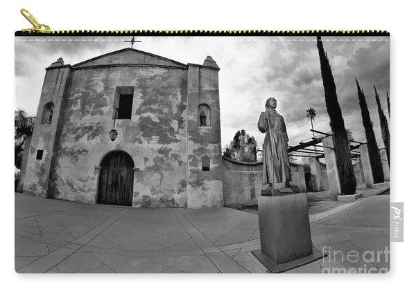 Mission San Gabriel San Gabriel Ca Black And White Carry-all Pouch