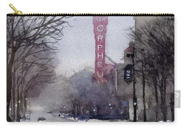 Misty Morning On Stae Street Carry-all Pouch