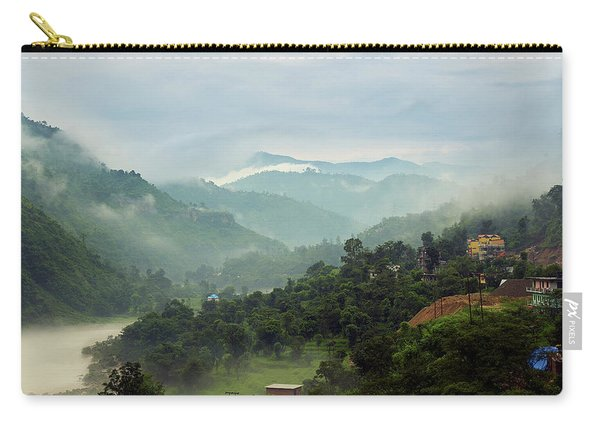 Carry-all Pouch featuring the photograph Misty Mountains by Whitney Goodey