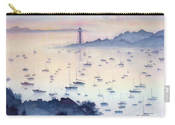 Misty Sunrise Marblehead Harbor Carry-all Pouch