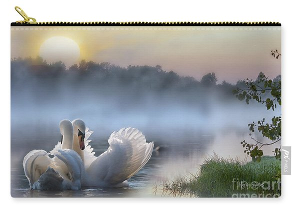 Misty Swan Lake Carry-all Pouch