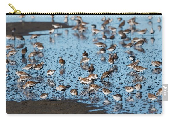 Mixed Flock Of Shorebirds Carry-all Pouch