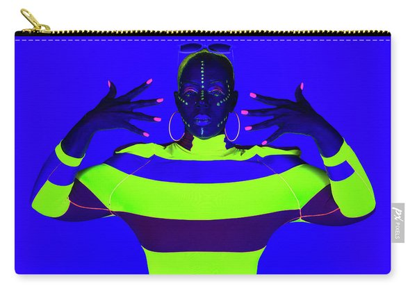 Carry-all Pouch featuring the photograph Modern Neon Portrait by Dennis Dame