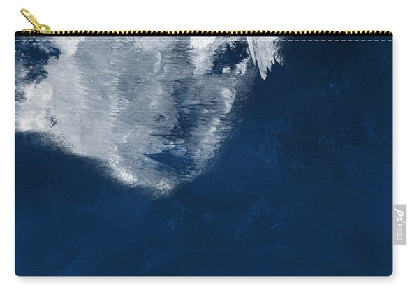 Moment In Blue- Art By Linda Woods Carry-all Pouch