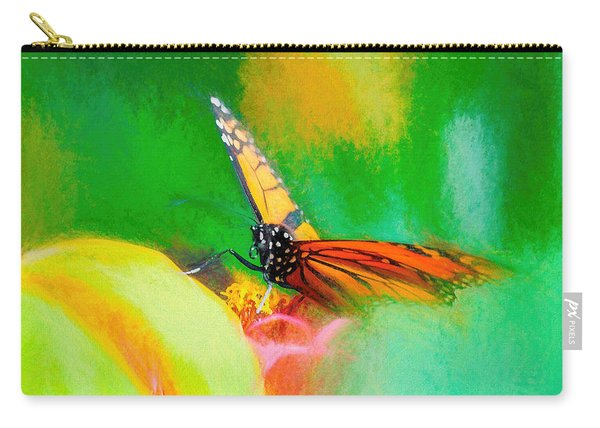 Carry-all Pouch featuring the photograph Monarch Butterfly Beautiful Smudge by Don Northup