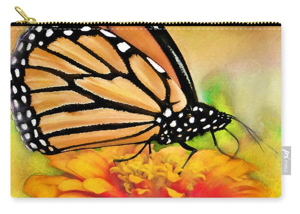 Monarch Butterfly On Flower Carry-all Pouch