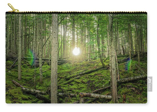 Monashee Forest Sunset With Flare Carry-all Pouch