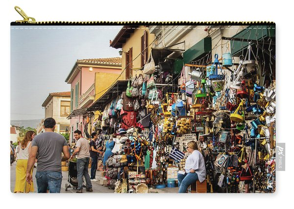 Carry-all Pouch featuring the photograph Monastiraki  Colours by Juan Contreras