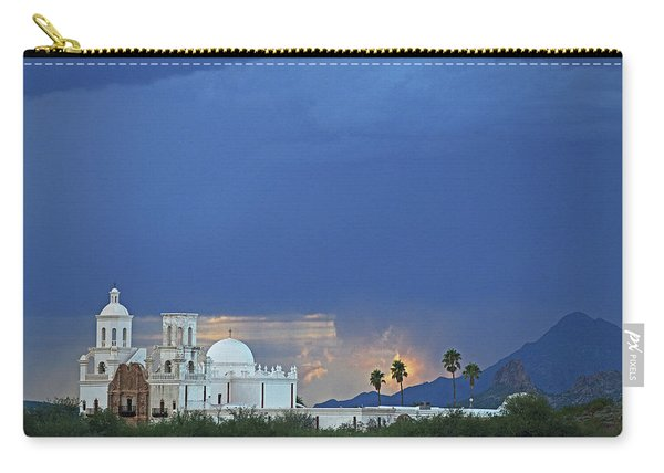 Monsoon Skies Over The Mission Carry-all Pouch