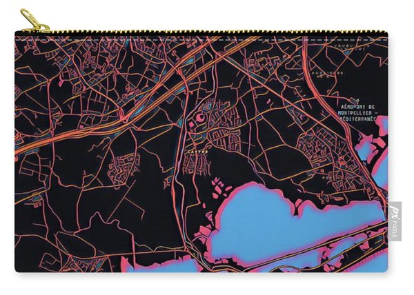 Montpellier City Map Carry-all Pouch