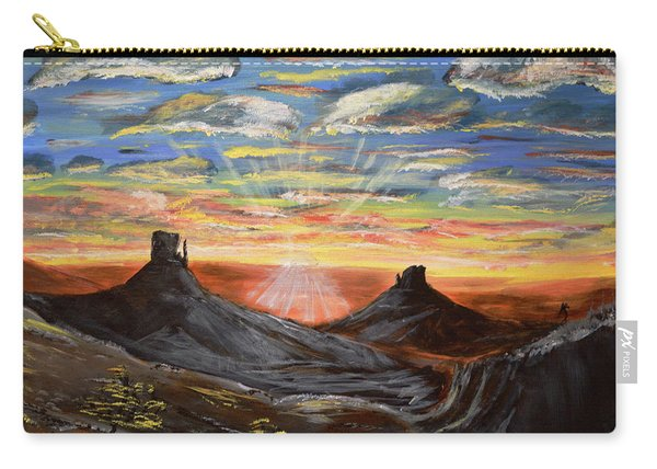 Monument Valley And Kokopelli Carry-all Pouch