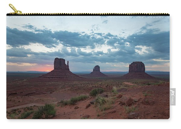 Monument Valley Before Sunrise Carry-all Pouch