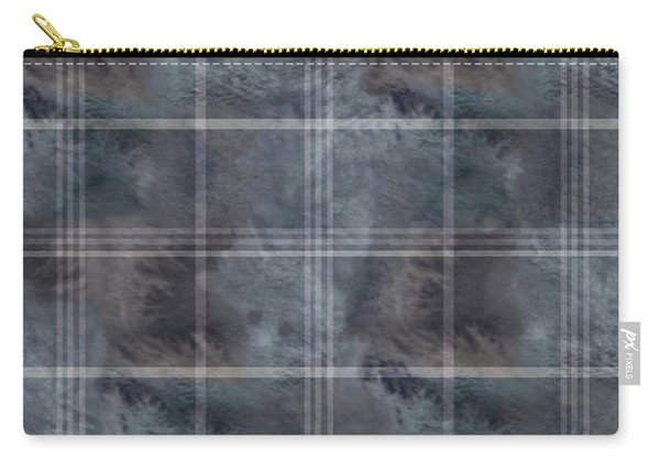 Moody Blue Plaid Carry-all Pouch
