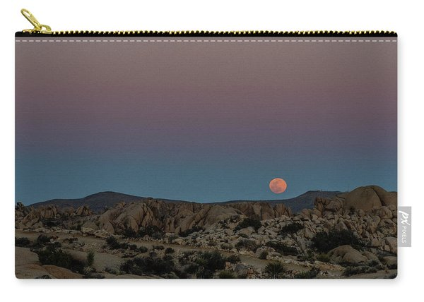 Moon Above Joshua Tree Carry-all Pouch