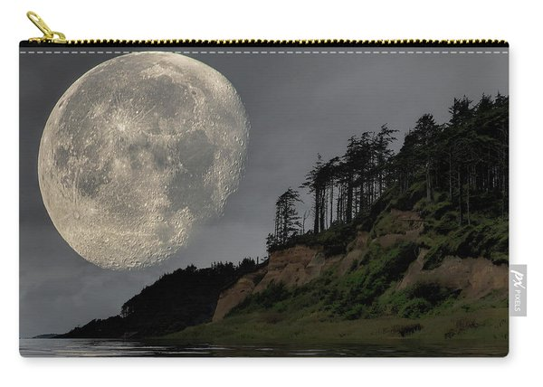 Moon And Beach Carry-all Pouch