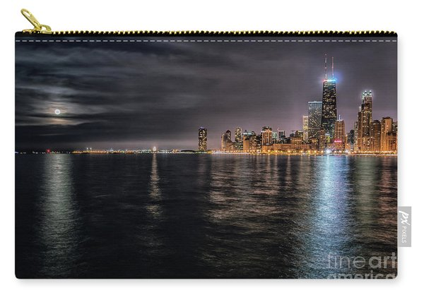 Moon Over Lake Michigan Carry-all Pouch