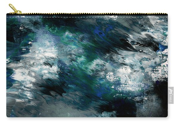 Moonlight Ocean- Abstract Art By Linda Woods Carry-all Pouch