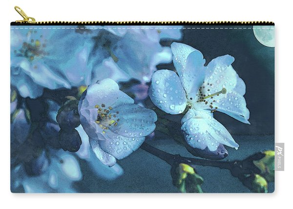 Moonlit Night In The Blooming Garden Carry-all Pouch