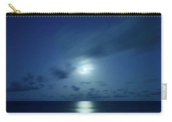 Moonrise Over The Sea Carry-all Pouch