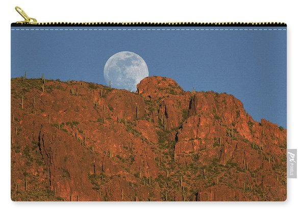 Moonrise Over The Tucson Mountains Carry-all Pouch