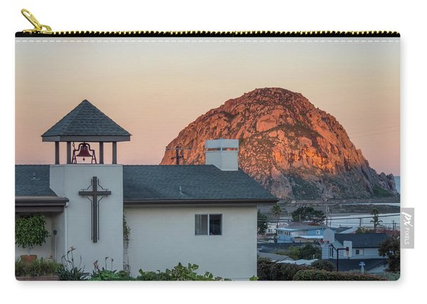 Moonset Above Morro Rock Carry-all Pouch