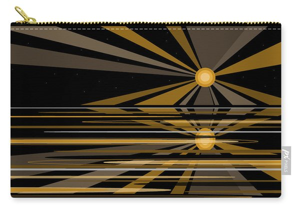 Moonshine In Black And Gold Carry-all Pouch