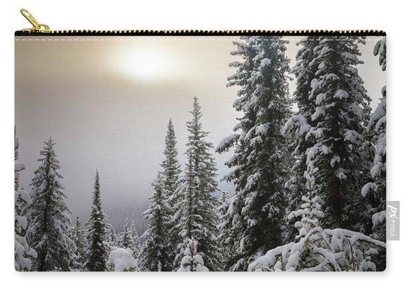 Moraine Lake Winter Trees Carry-all Pouch