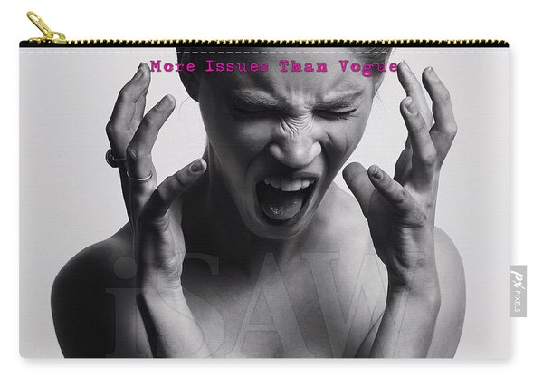 Carry-all Pouch featuring the digital art More Issues Than Vogue by ISAW Company