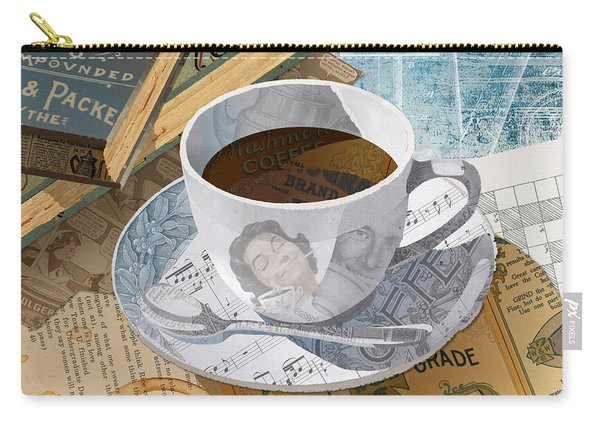 Carry-all Pouch featuring the mixed media Morning Coffee by Clint Hansen