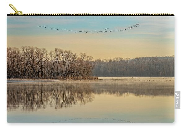 Carry-all Pouch featuring the photograph Morning Flight by Allin Sorenson