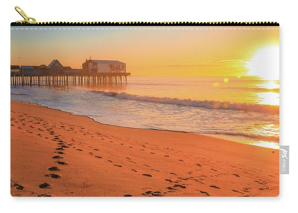 Morning Footsteps On Old Orchard Beach Carry-all Pouch