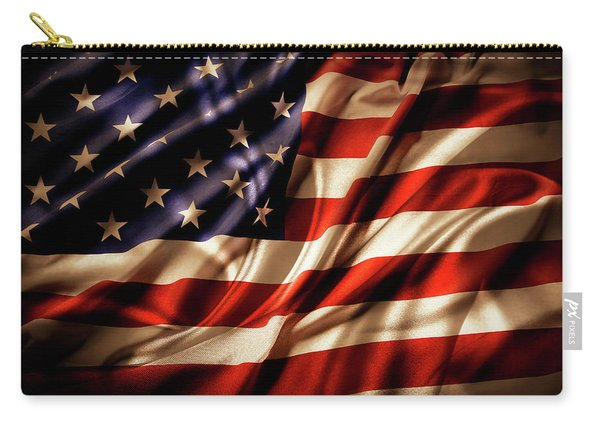 Morning Light American Flag  Carry-all Pouch
