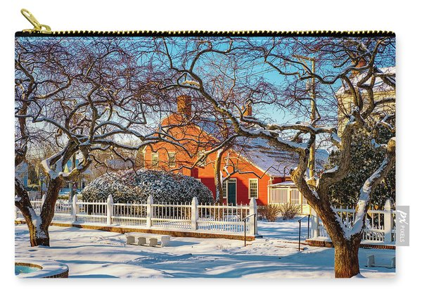 Carry-all Pouch featuring the photograph Morning Light, Winter Garden. by Jeff Sinon