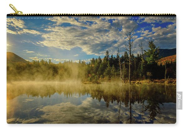 Carry-all Pouch featuring the photograph Morning Mist, Wildlife Pond  by Jeff Sinon