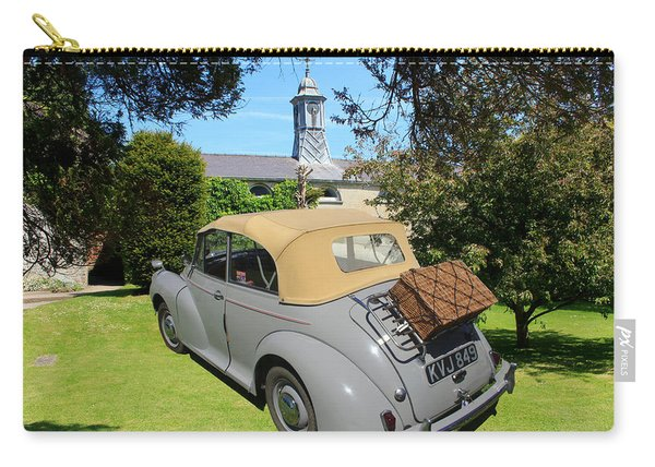 Morris Minor Grey Convertible Carry-all Pouch
