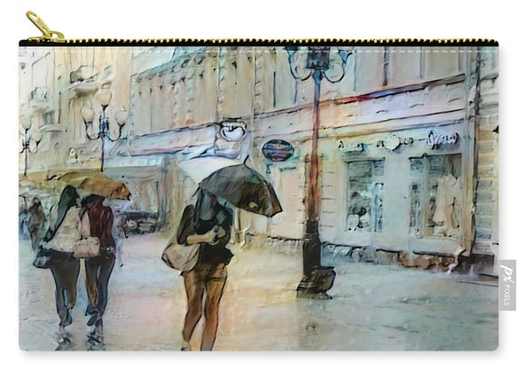 Moscow In The Rain Carry-all Pouch
