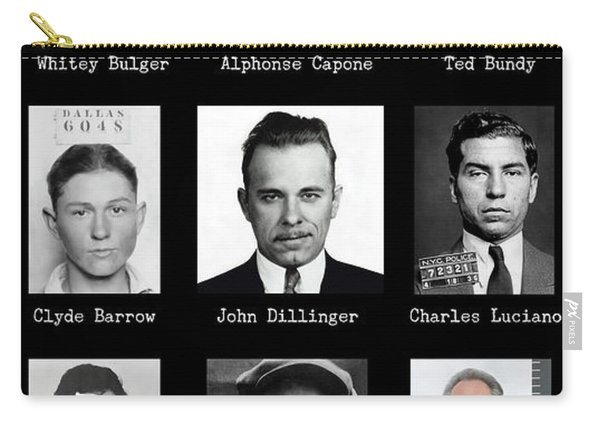 Most Wanted - Crime Public Enemies Carry-all Pouch