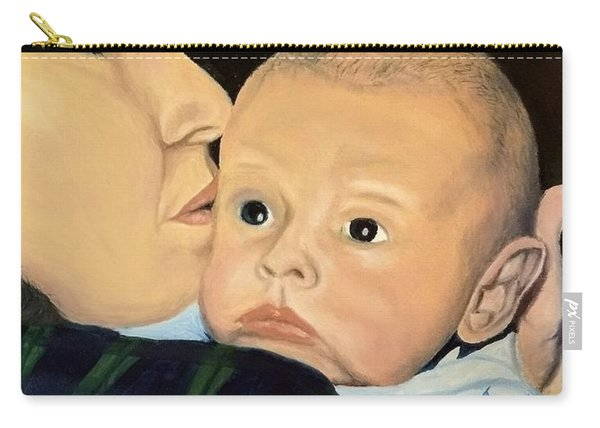 Carry-all Pouch featuring the painting Mother And Son by Kevin Daly