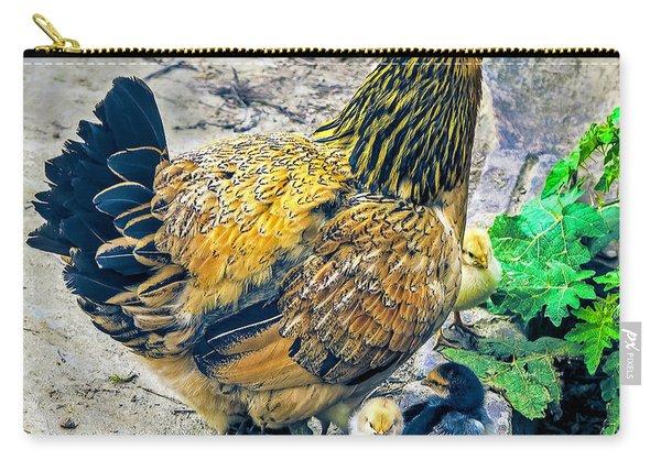 Mother Hen And Brood Carry-all Pouch